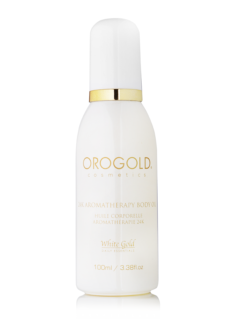 OROGOLD White Gold 24K Aromatherapy Body Oil-1